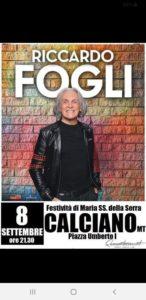 Riccardo Fogli @ Calciano